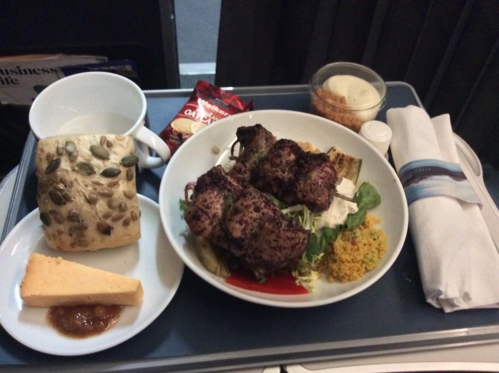 BA Club Europe Meal