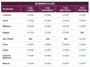 qatar airways business class sale