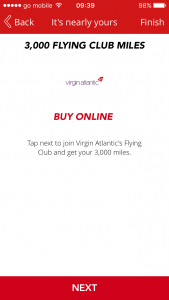 free virgin flying club miles