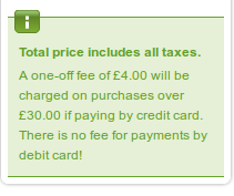 Eurostar credit card fee