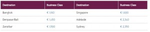qatar business class AMS