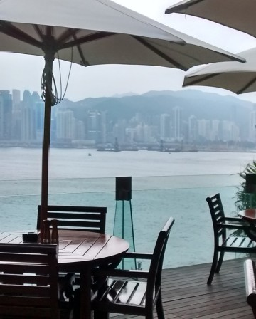 View from the Intercontinental Hong Kong Pool