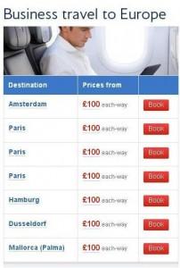 BA Club Europe Sale