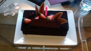 Birthday Cake from the Doubletree Kuala Lumpur