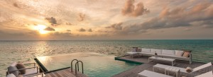 Sunset Water Villa at the Conrad Maldives