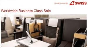 Swiss Business Class Sale