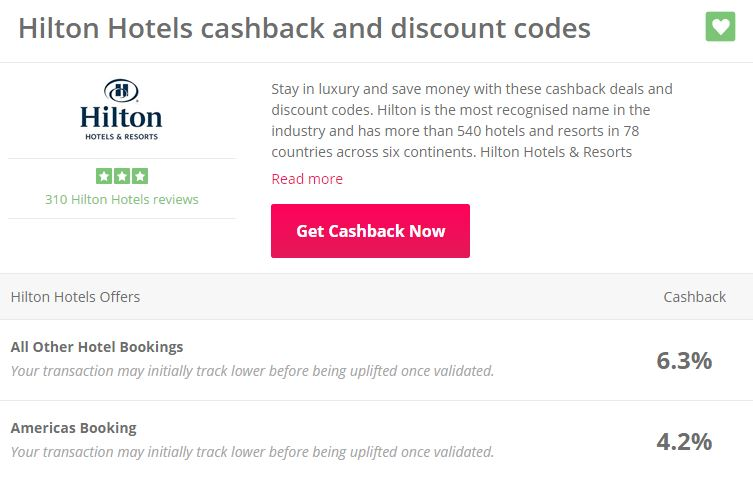 How to get even more cashback on Hilton hotel bookings
