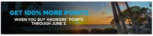 hilton hhonors points bonus