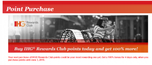 ihg points sale