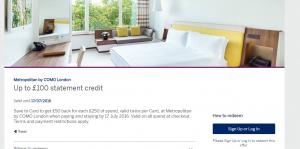 Metropolitan Hotel amex