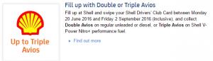 Shell double avios