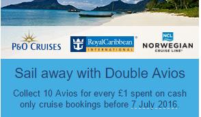 cruise double avios
