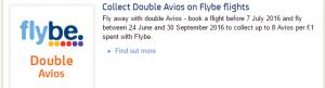 flybe double avios