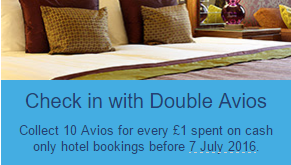 hotels double avios