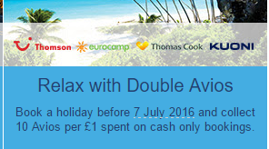 package holiday double avios
