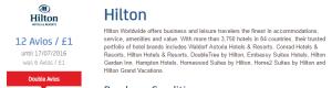 Hilton double avios
