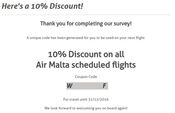 Air Malta promo code - 10% off your next flight - InsideFlyer UK