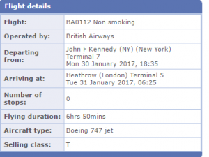 booking class T