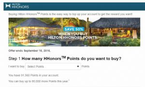 buy hilton points