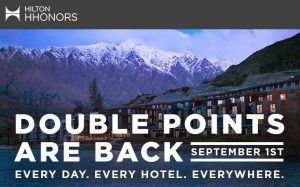 hilton double points