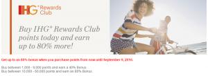 ihg 80% bonus points sale
