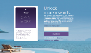 starwood spg free points game