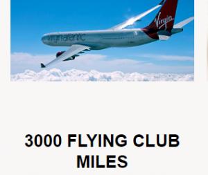 virgin 3,000 app miles