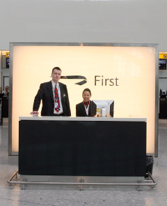 First Class check in area at Heathrow T5