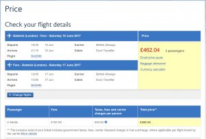 Prices for LGW - FAO