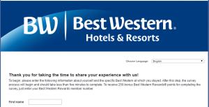 best western rewards survey