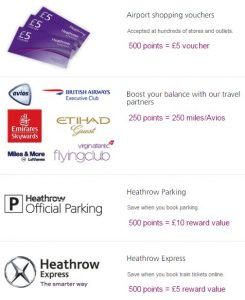 heathrow rewards points