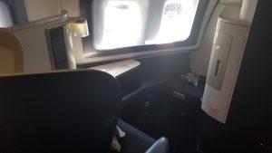 BA 747 Pre-refit First Class Seat 01A