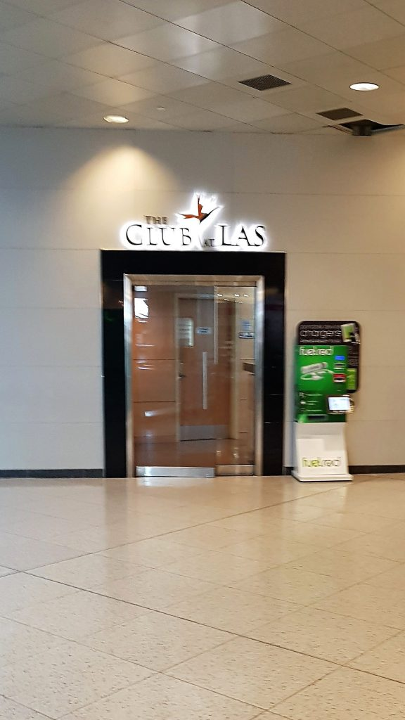 Entrance to The Club at LAS T1 D Gates