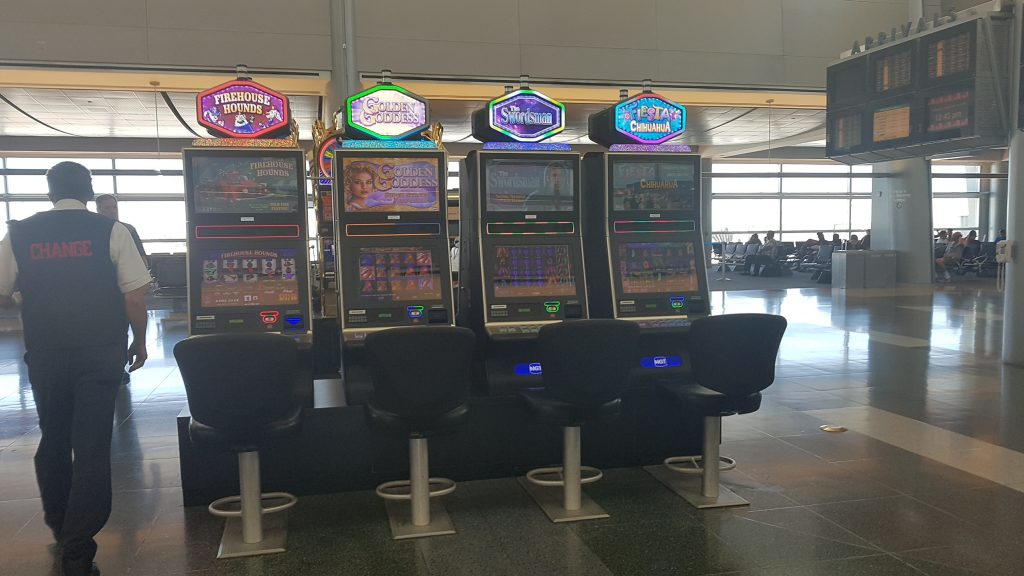 LAS Slot Machines at gate