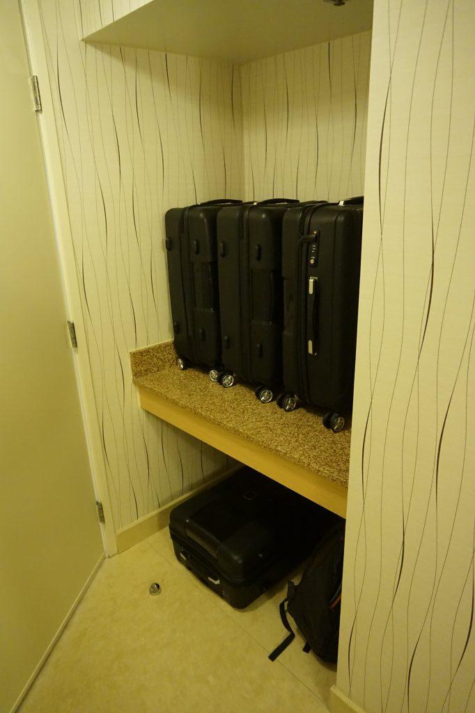Hilton LAX Luggage Rack