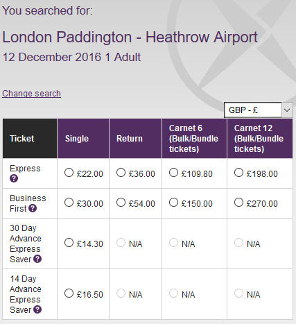 heathrow express discount code