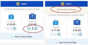 ryanair baggage fees