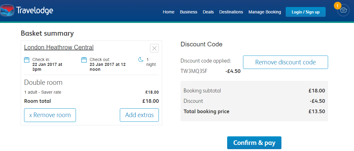Coupon code travelodge hotel
