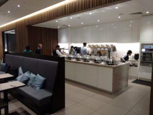 Plaza Premium Lounge food counter