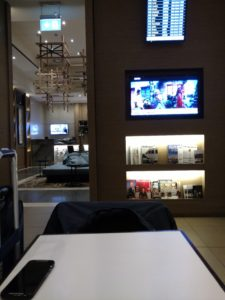 Plaza Premium Lounge table