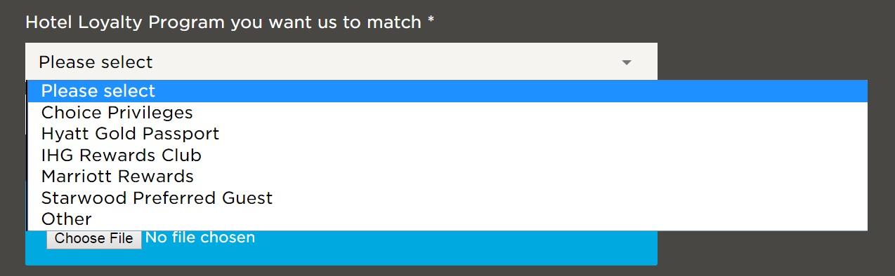 hhonors status match