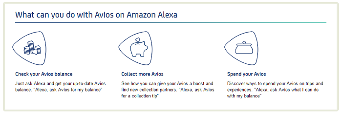 What can you do with Avios on Amazon Alexa