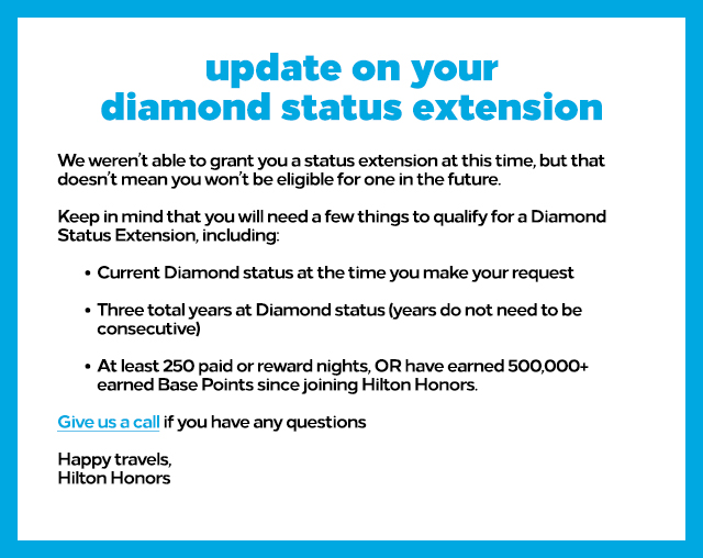 honors diamond extension