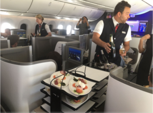British Airways New Club World Catering