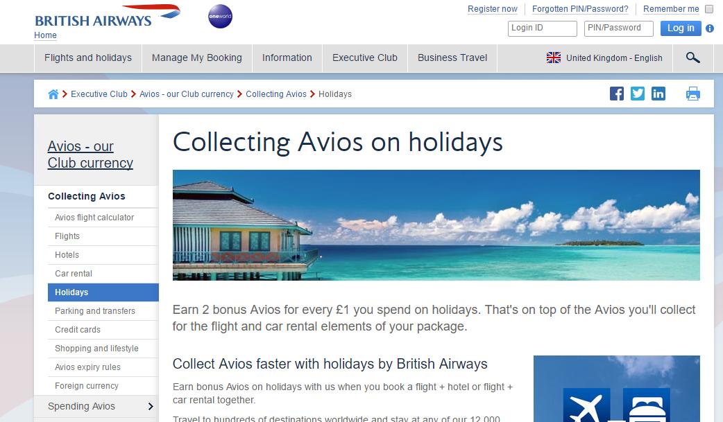 Save BIG Money and Earn Bonus Avios with British Airways Holidays ...