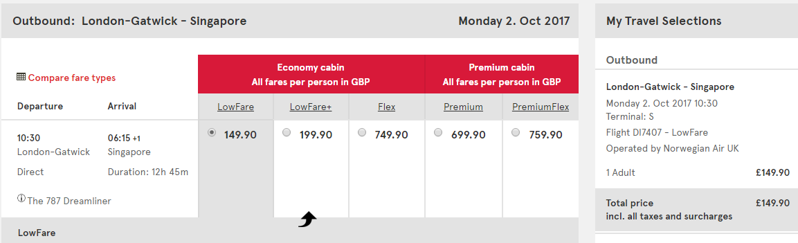 flight deals from singapore to london