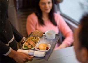 Lunch in Eurostar Standard Premier