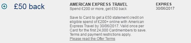 american express uk sign up bonus