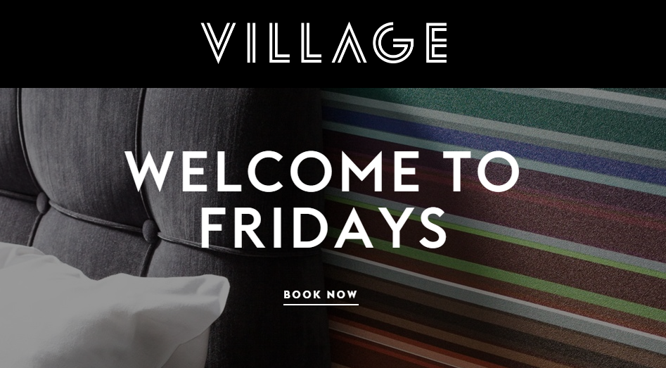 Hotel dinner and drinks for 69 with village hotels for Good friday hotel deals