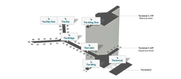 Cathay Pacific lounge locations